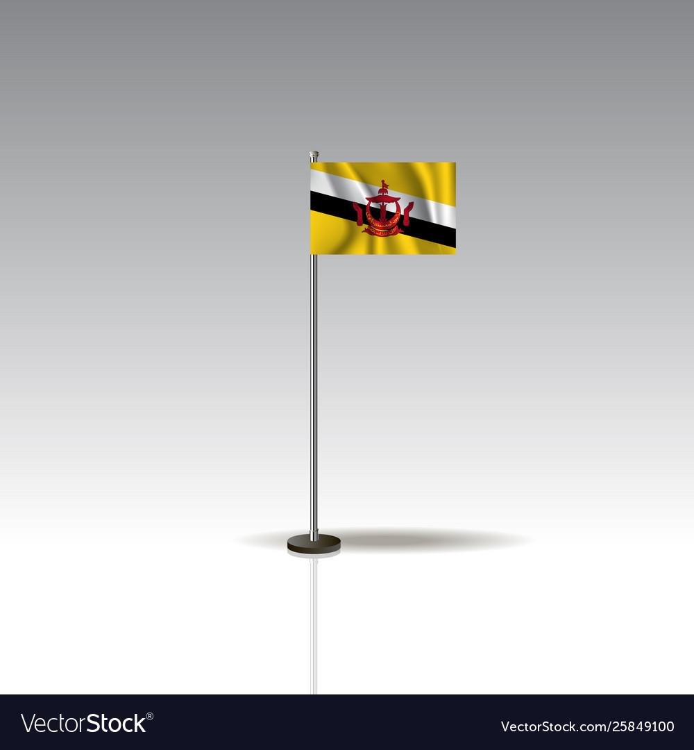 Flag country brunei national brunei