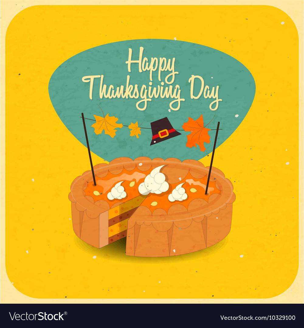 Happy Thanksgiving pie vector image