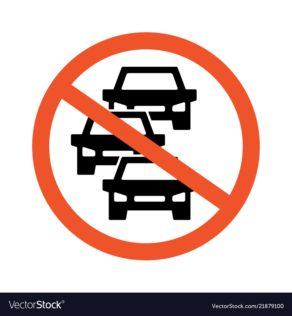 No heavy car and traffic jam icon symbol