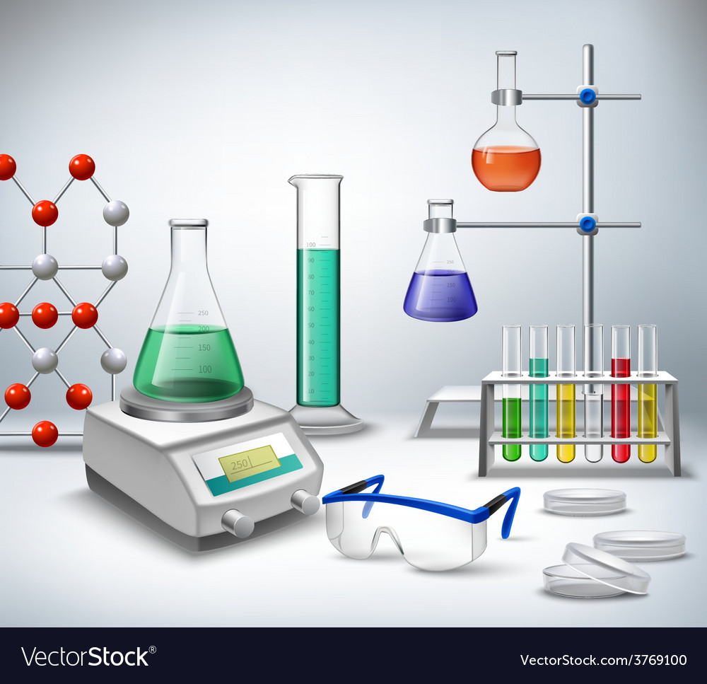Education Background With Laboratory Vector Vector Art: Science Lab Background Royalty Free Vector Image