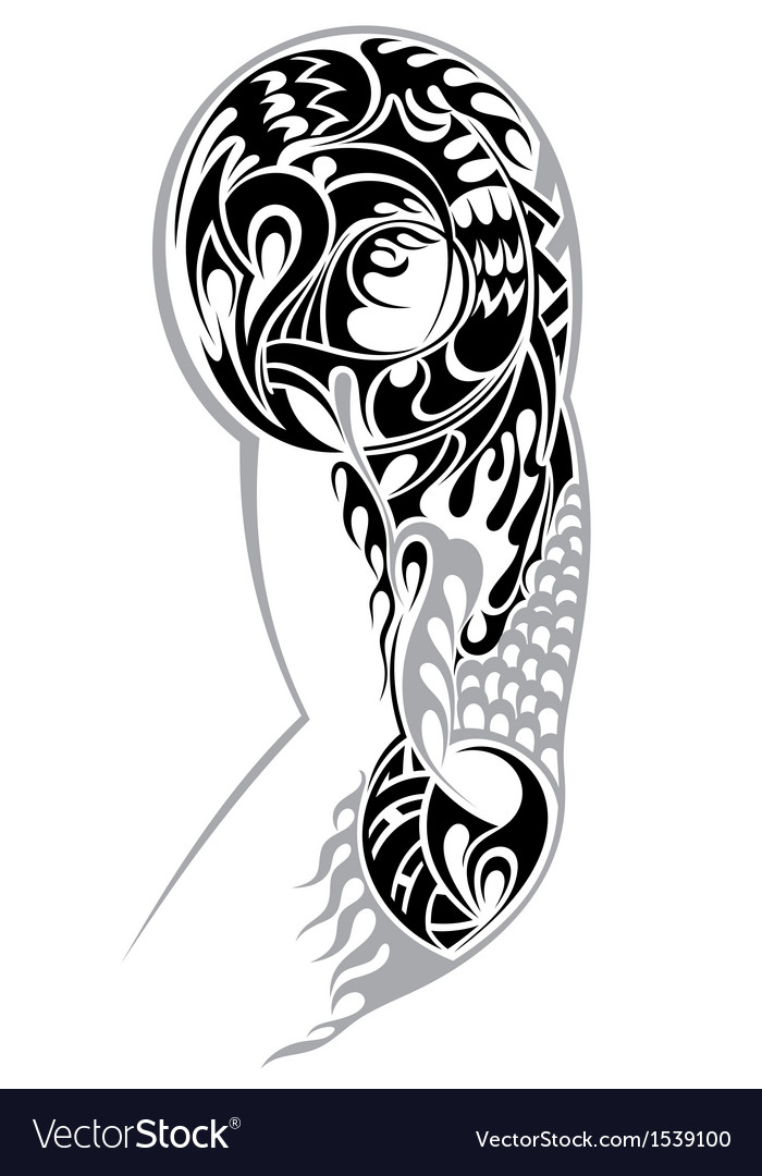 Tribal Arm Tattoo Royalty Free Vector Image - VectorStock