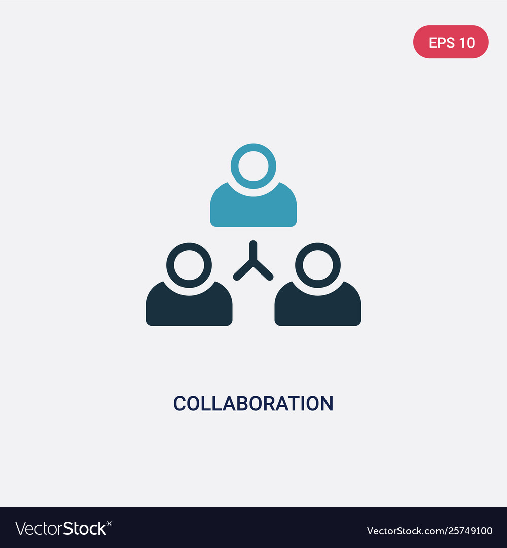 Two color collaboration icon from strategy