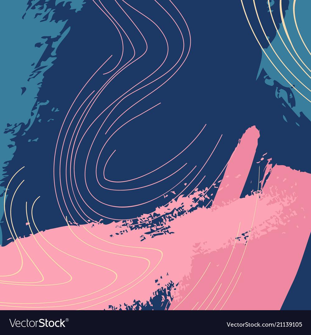Dymanic navy pink brush stroke pattern