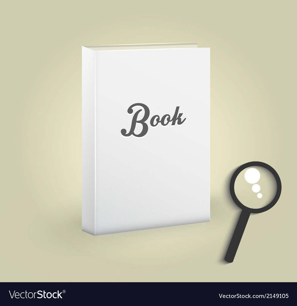 Front view blank book