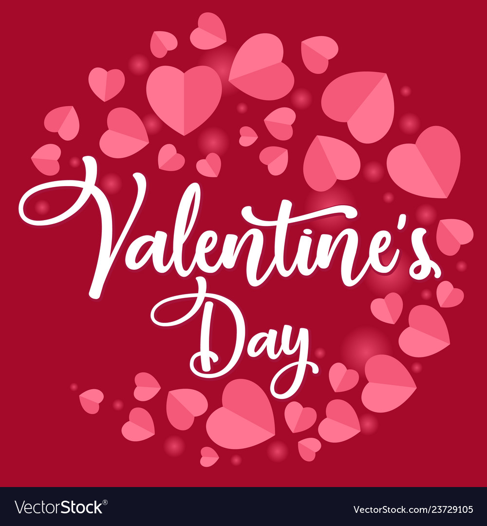 Happy valentines day romantic greeting card