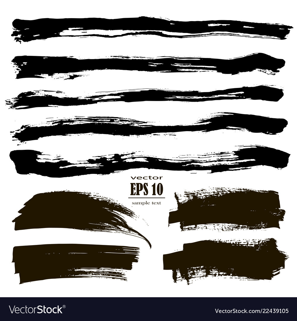 Ink grunge stains set