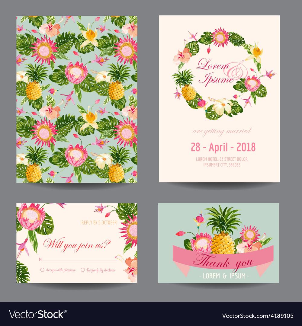 Invitation-Congratulation Card Set