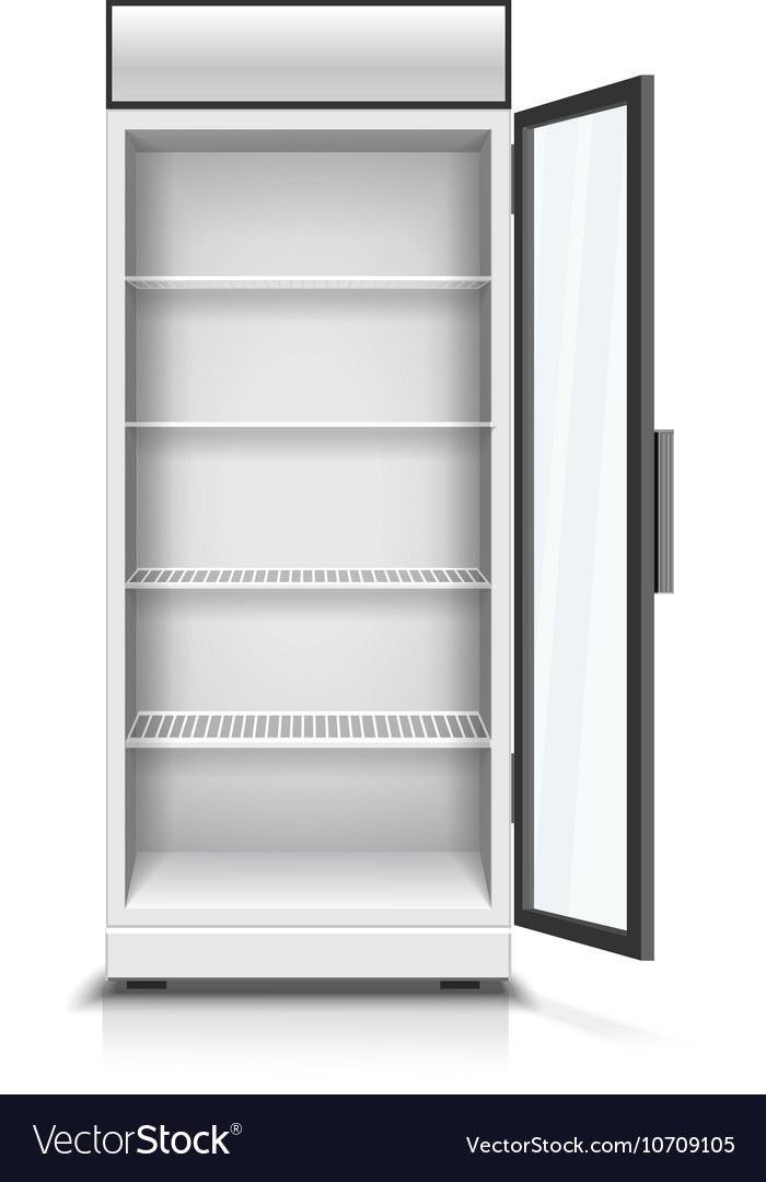 картинки открытого холодильника пустого гор один