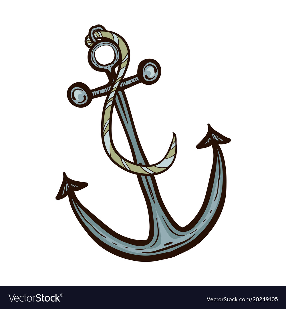 Nautical ship anchor isolated