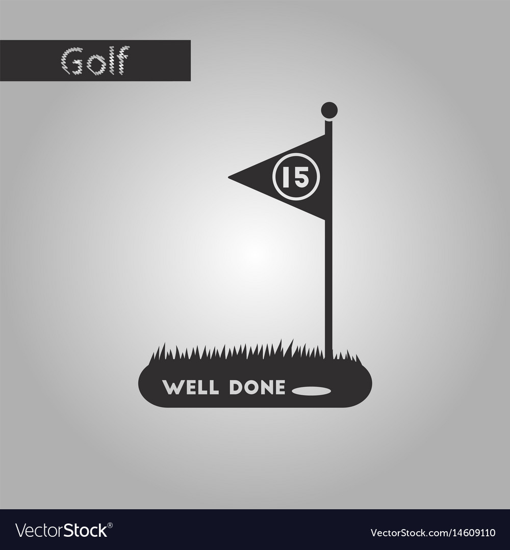 golf course icon in black style isolated on white
