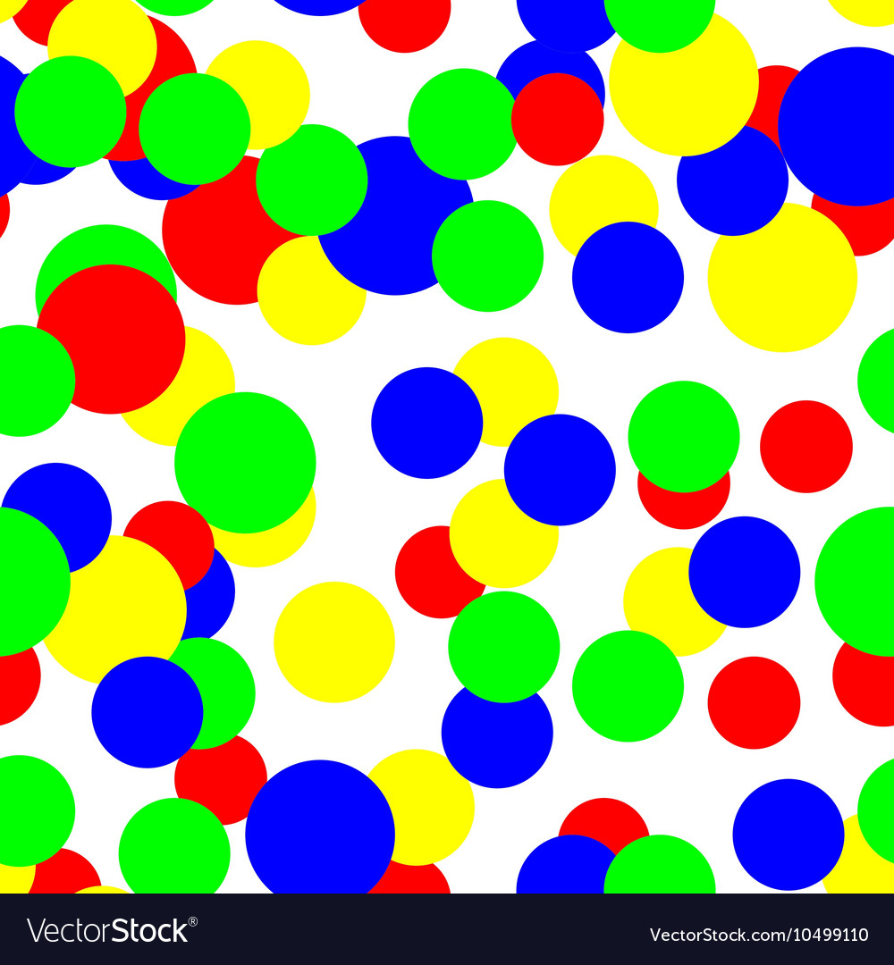 Colorful circles pattern seamless background