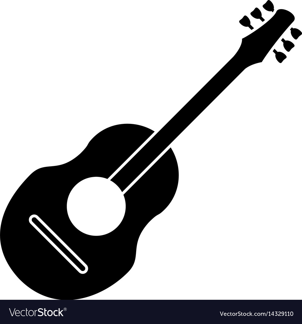 Guitar traditional acoustic music pictogram