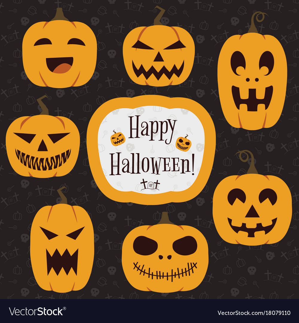 Halloween pumpkins collection
