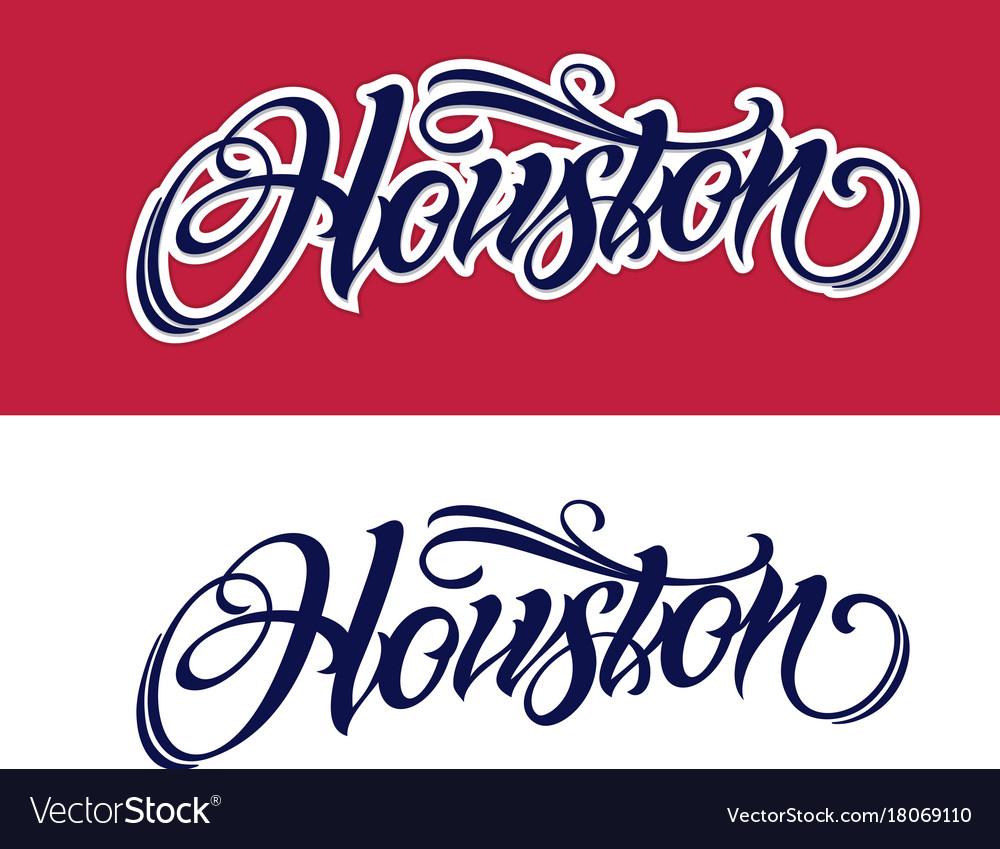 Houston lettering in tattoo style Royalty Free Vector Image