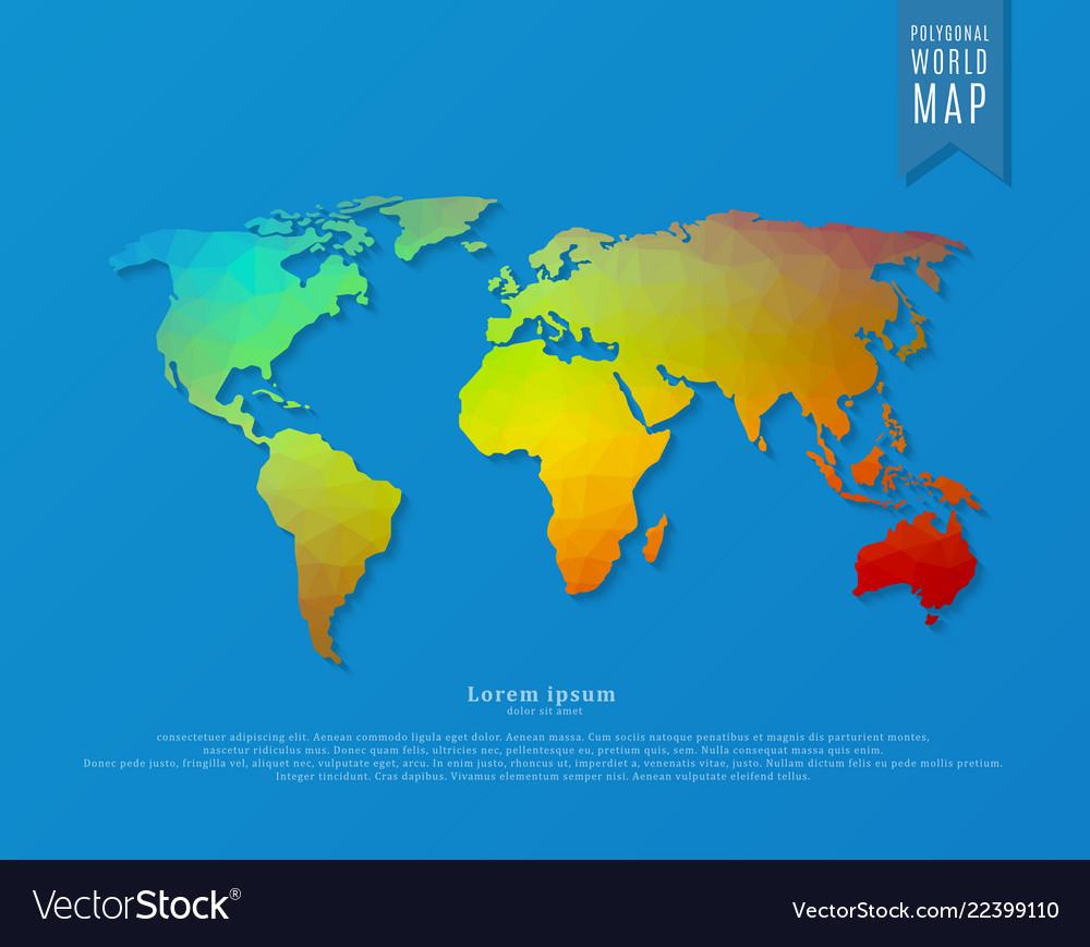 Polygonal world map
