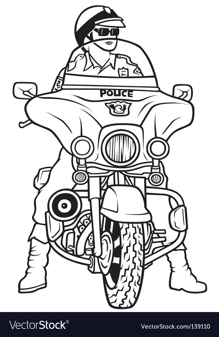 road police royalty free vector image - vectorstock  vectorstock