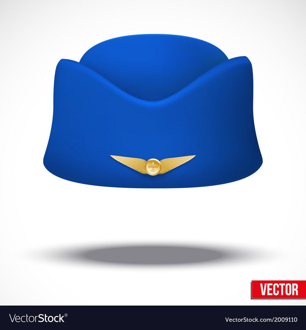 0a0f2ef414b04 Stewardess hat of air hostess uniform Royalty Free Vector