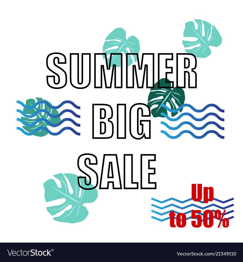 Summer big sale design