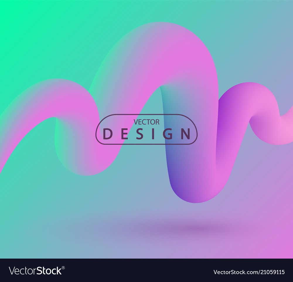 3d abstract colorful fluid design