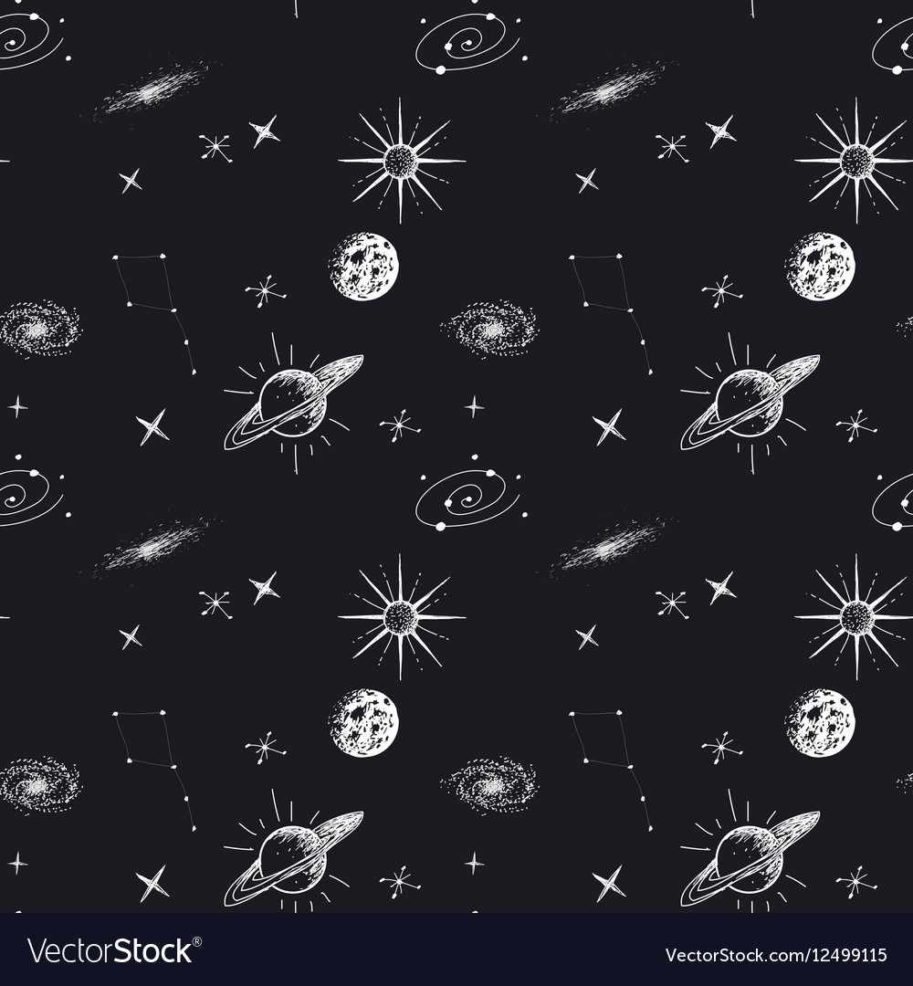 Astronomy seamless pattern