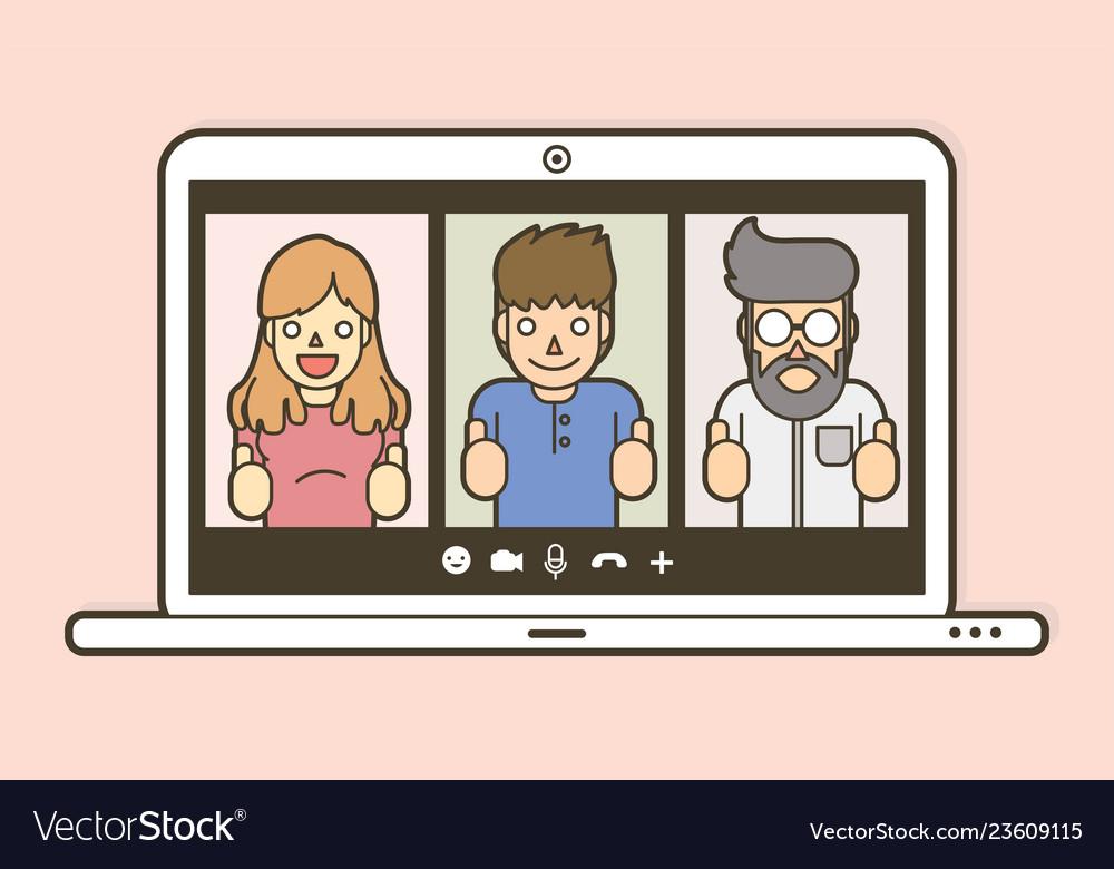 Online meeting chat online social media