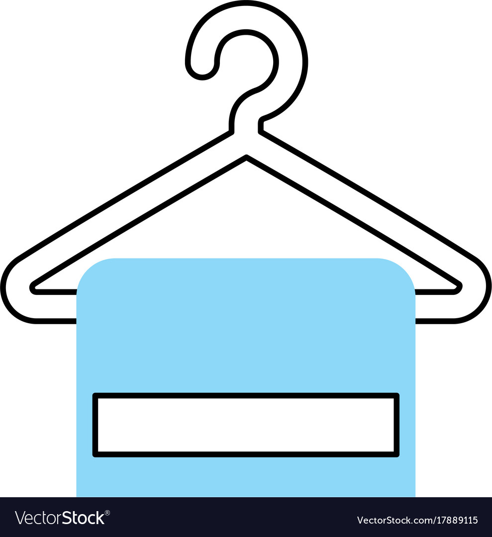 Towell hangin in wire hook Royalty Free Vector Image