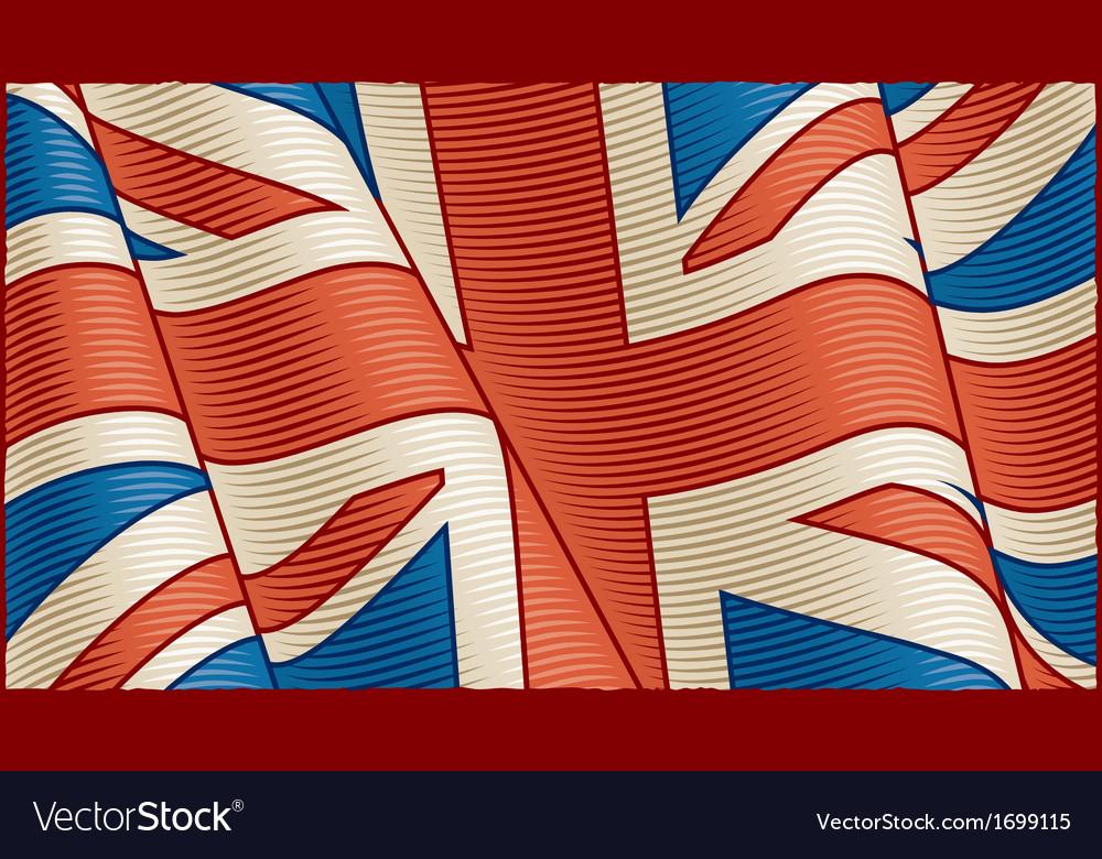 Vintage British flag background