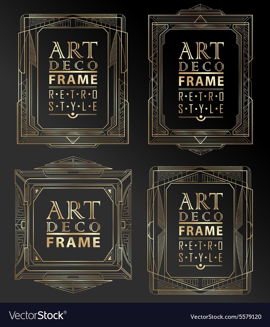 Art deco geometric vector image