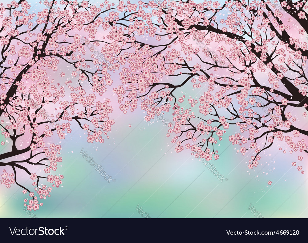 Background with blossoming trees