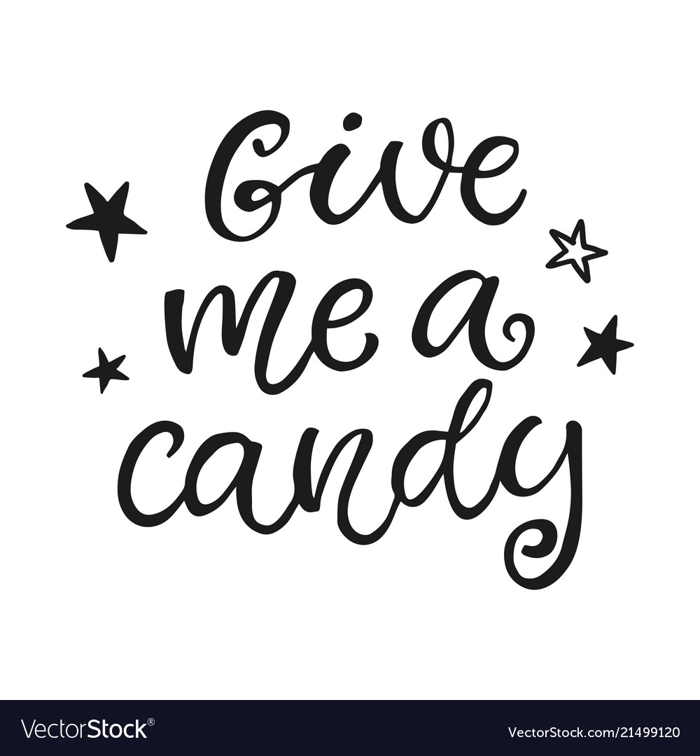 Give me a candy halloween party poster