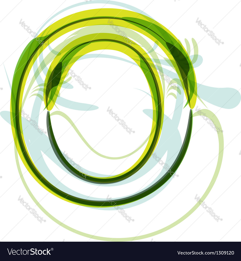 Green letter O