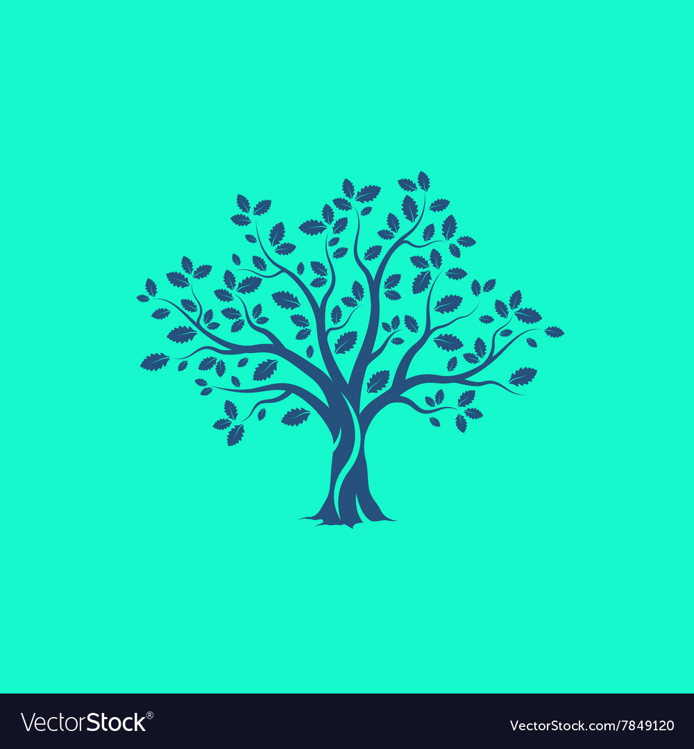 M tree vector image