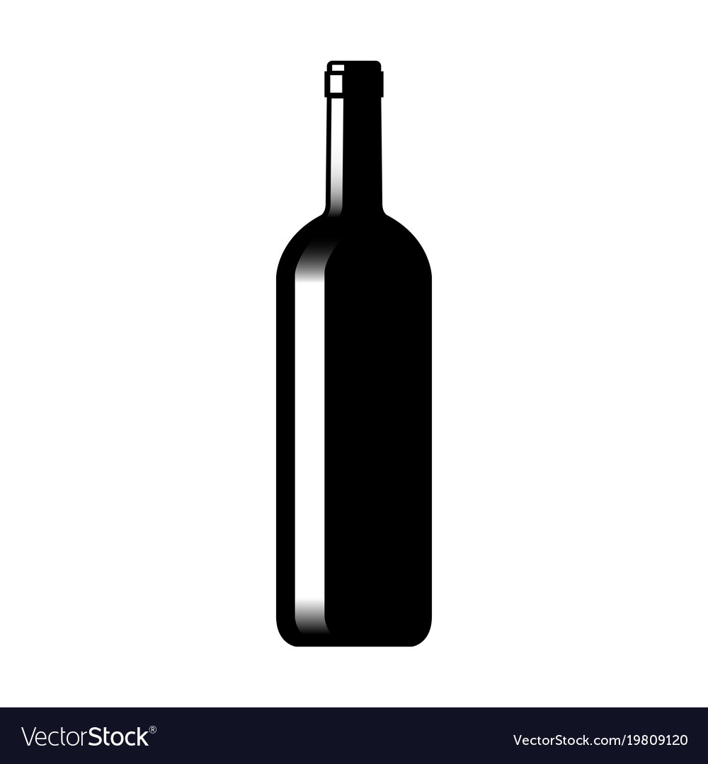 silhouette of a glass wine bottle royalty free vector image rh vectorstock com wine bottle vector freepik wine bottle vector freepik