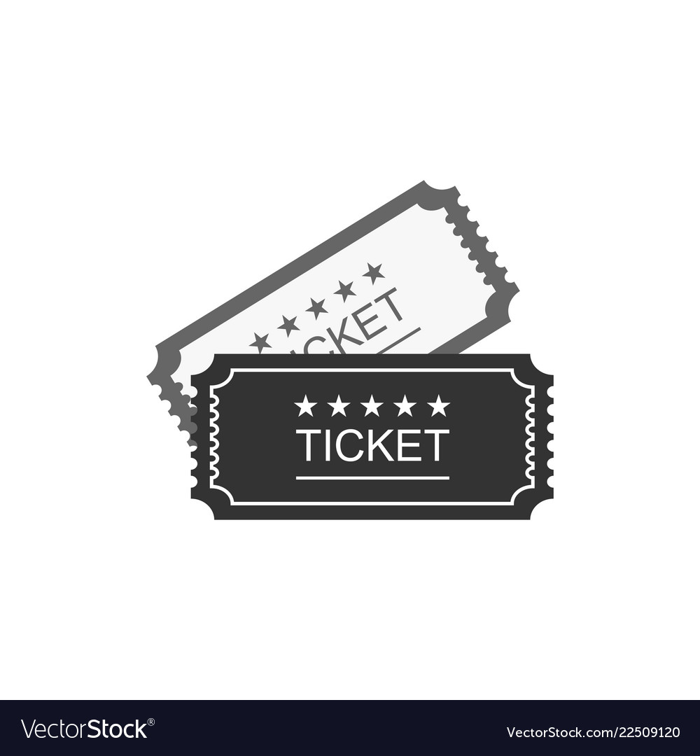 Ticket icon in old vitage style
