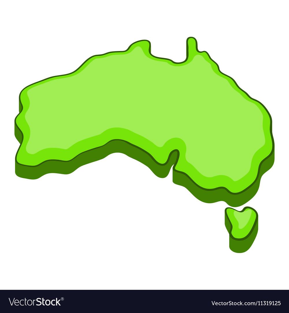 Australia map icon cartoon style