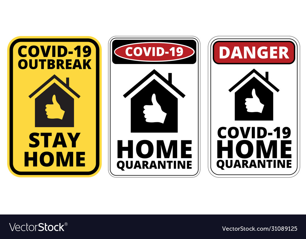 Covid19-19 danger signs set vector