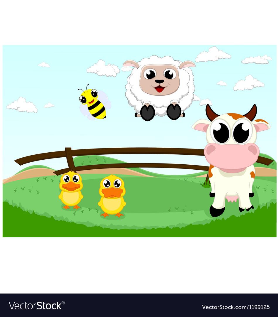 Cute farm animal