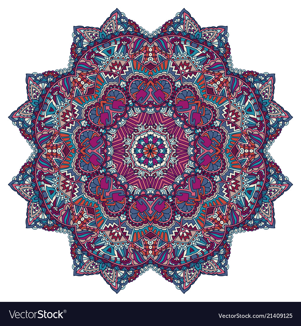 Festive colorful mandala