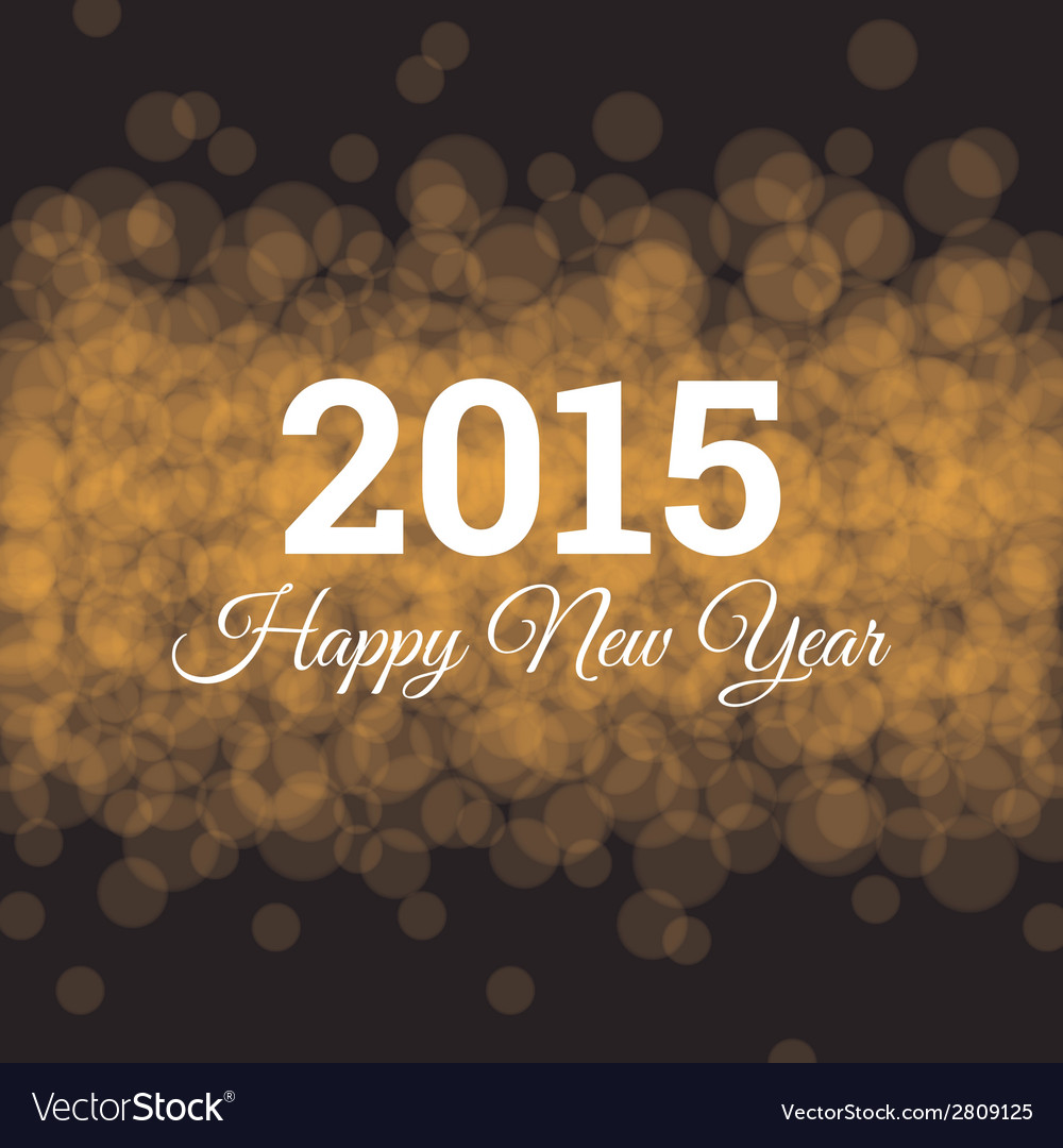 Happy new year 2015 card light background