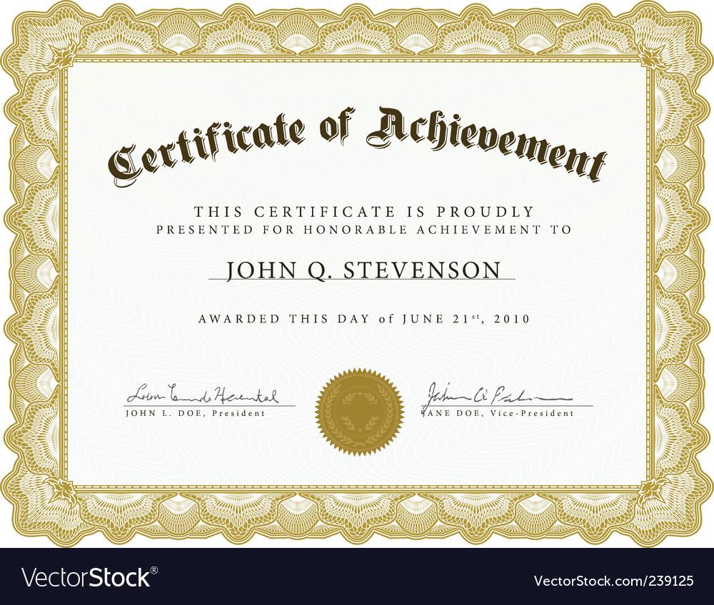 heavy border certificate royalty free vector image rh vectorstock com vector certificate design vector certificate background