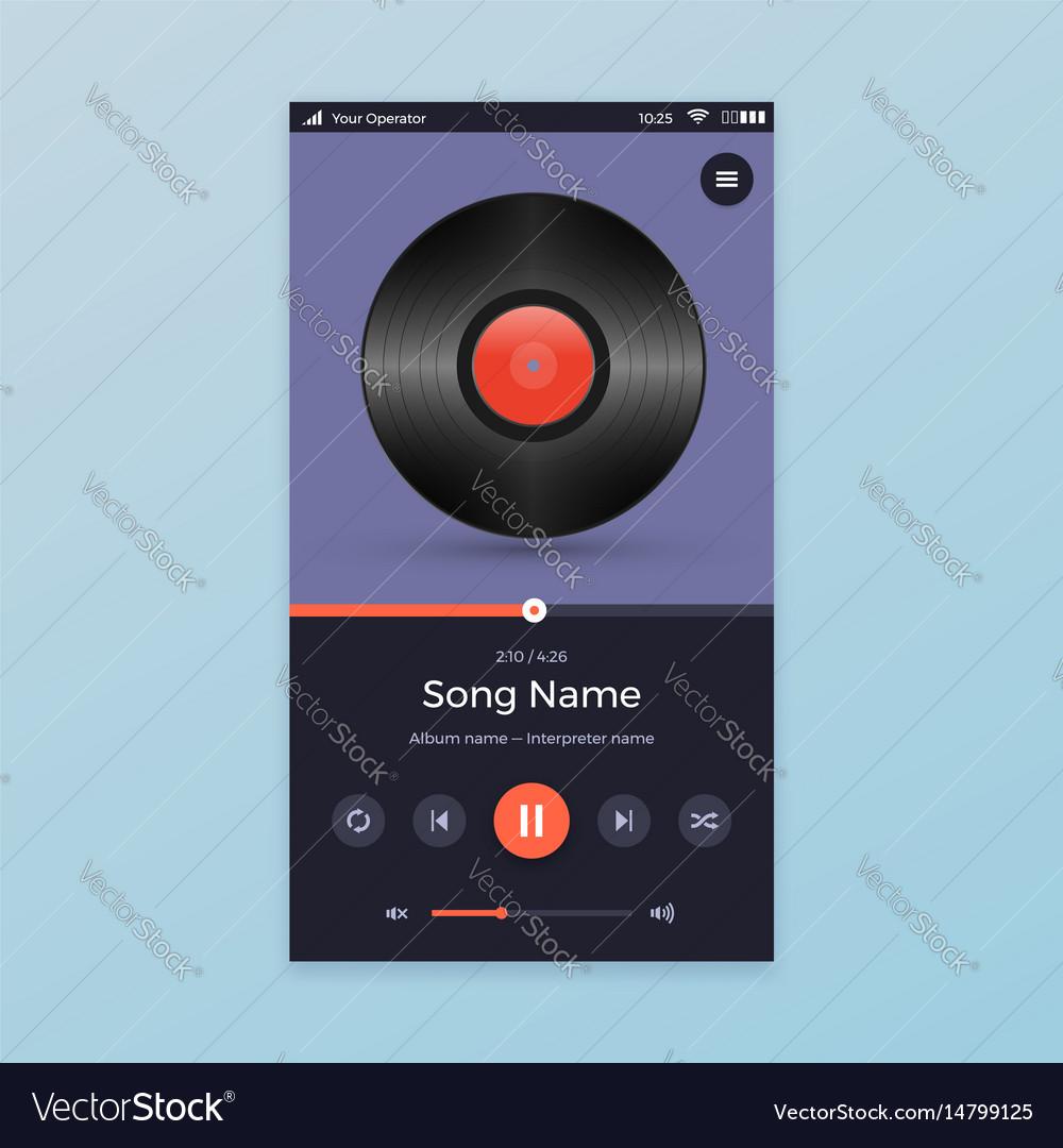 Music player ui app design