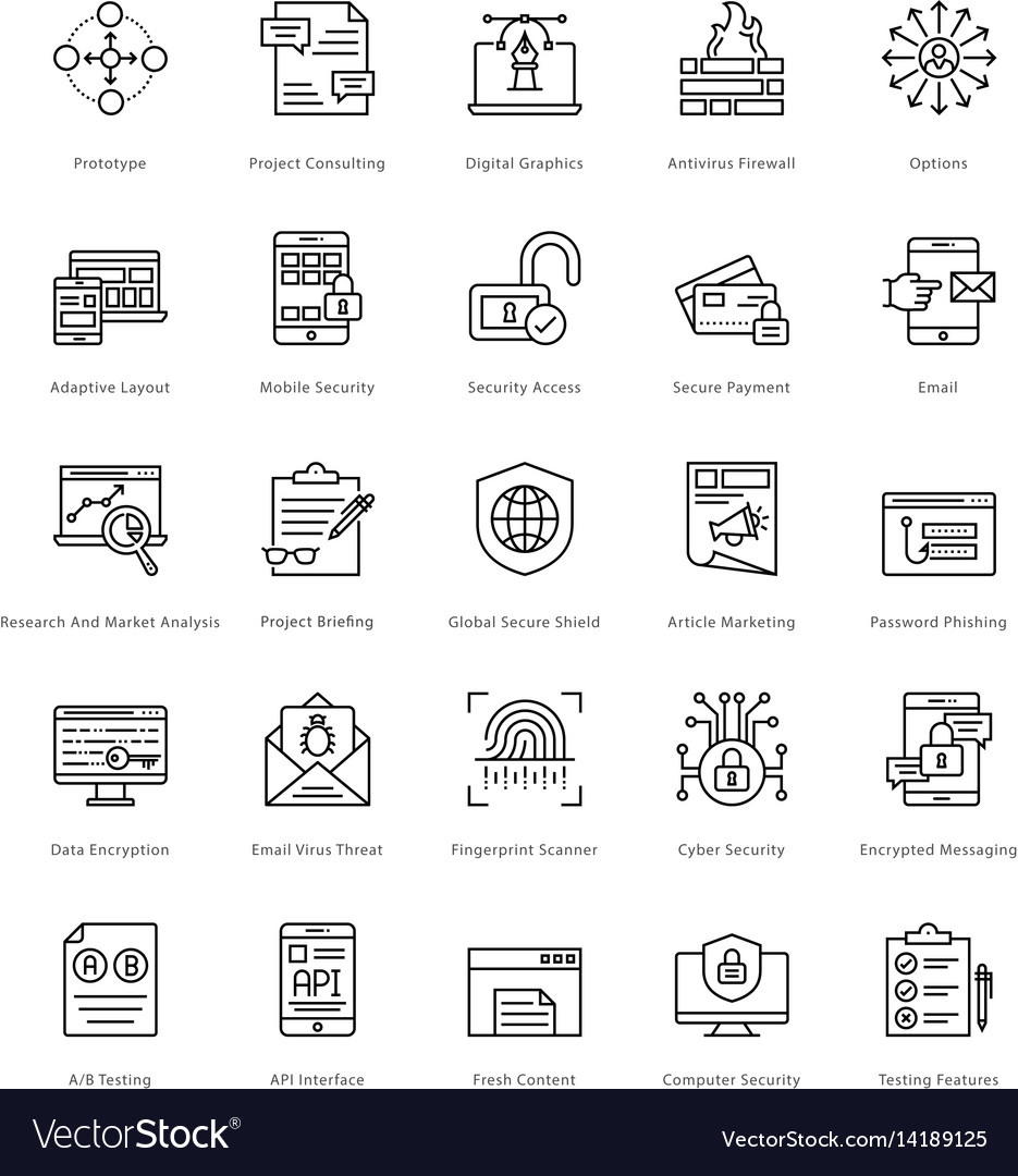Web and seo line icons 21