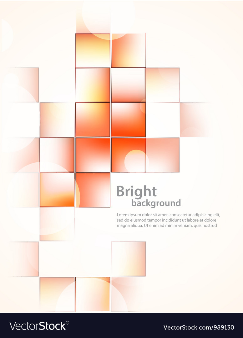 Background with orange squares