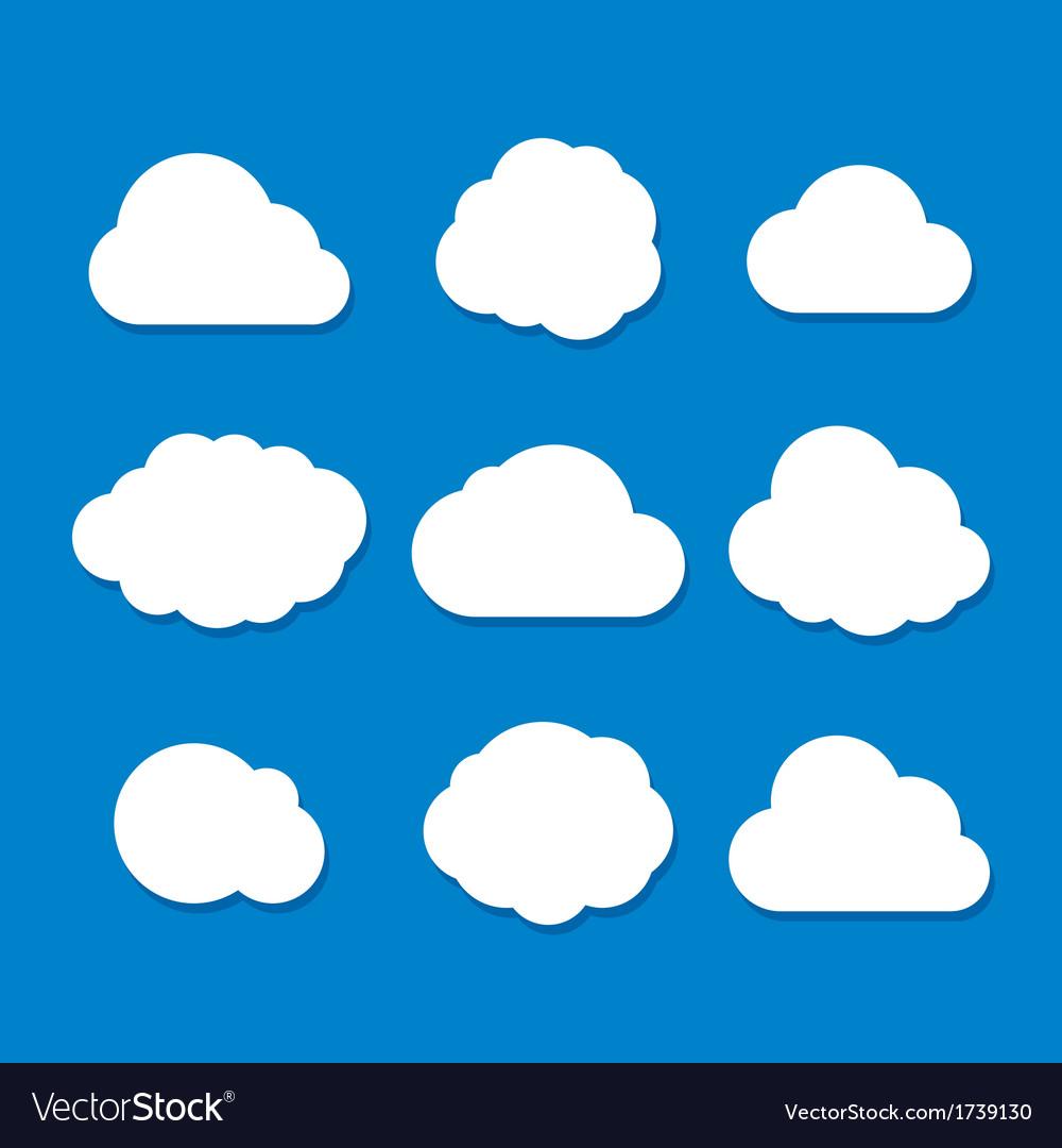 Cartoon Style Cloud Set