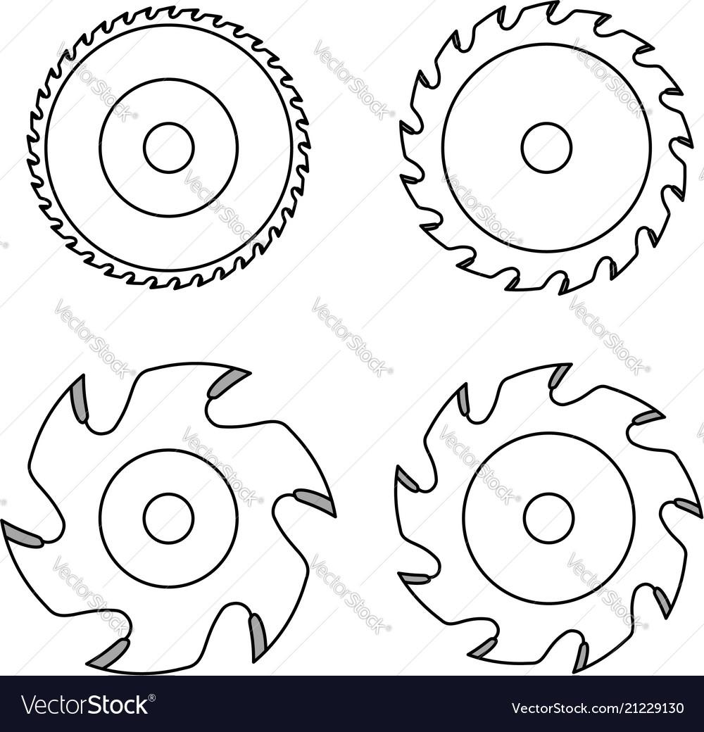 Circular saw blade on white background