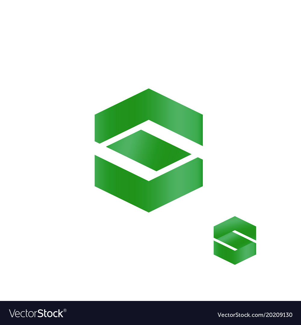Letter s abstract finance business logo green