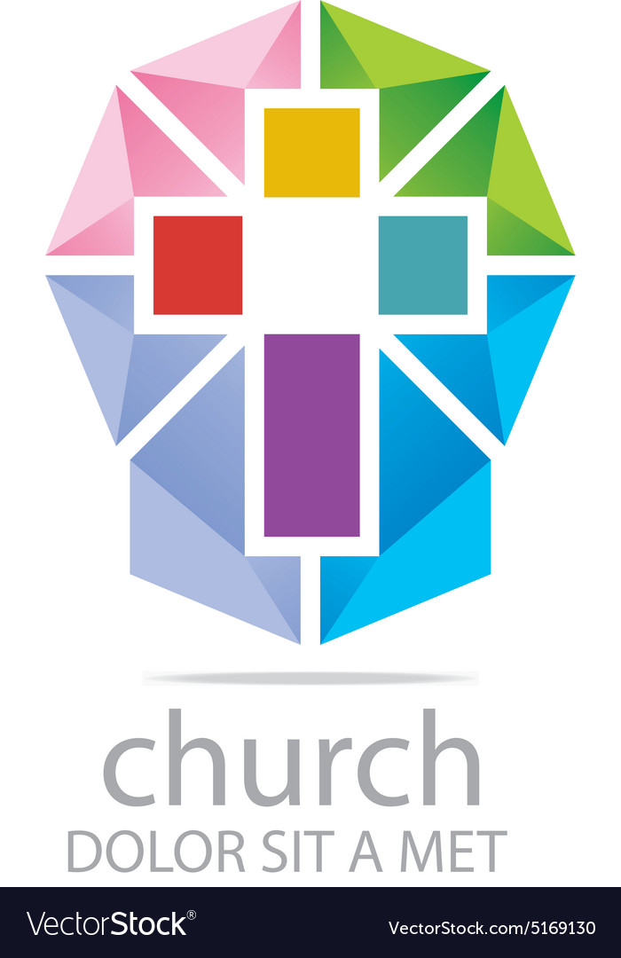 Logo Chruch Croos Christian Icon Symbol Abstract