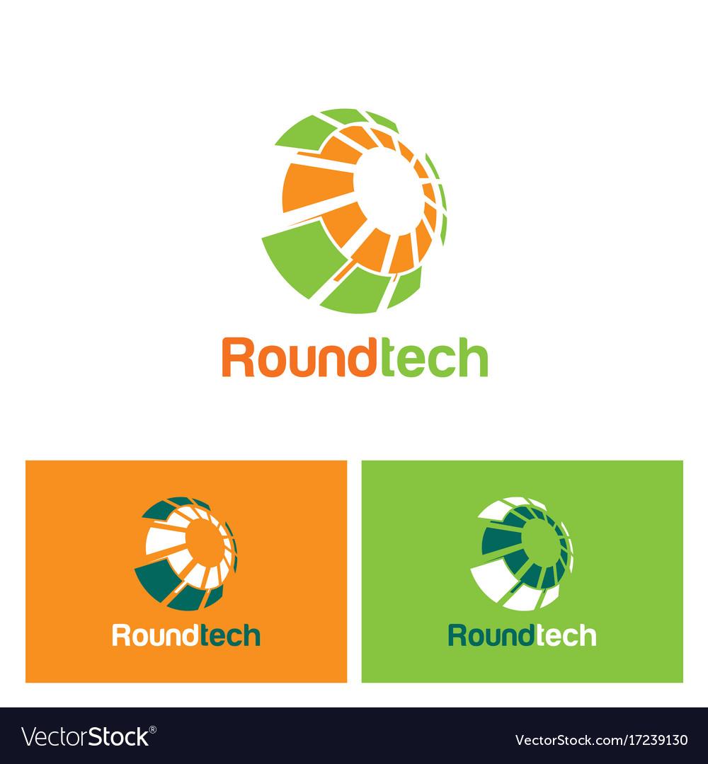 Round technology sphere logo