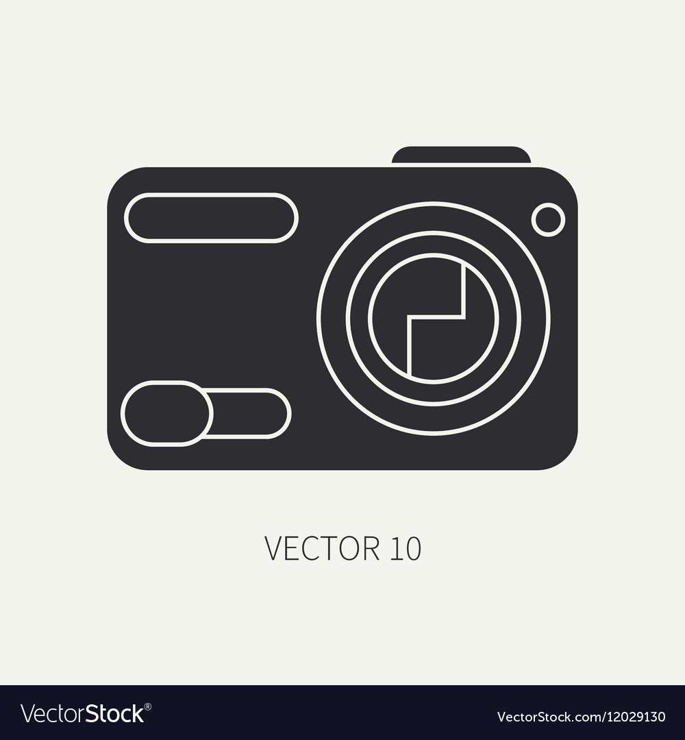 Silhouette flat icon with digital mini vector image