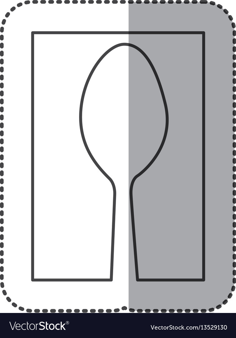 Silhouette spoon cutlery icon